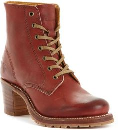 Frye Women's Shoes, Sabrina 6g Laceup Boots