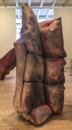 Here is a sculpture by Kaari Upson made from a sofa.