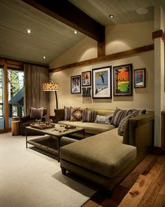 Tahoe-Truckee Design Photos - Rustic - Living Room - by Vallone Design