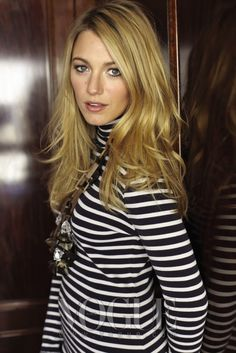 Blake Lively in stripes- VOGUE