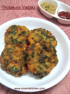 Amaranth Urad Dal Fritters are a breakfast or a evening snack recipe. These vadas are very tasty & healthy recipe. Made with thotakura, urad dal,onion & spices,