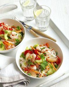 Salade Thaï aux crevettes : la recette - The Best Asian Recipes Healthy Cooking, Healthy Eating, Cooking Recipes, Vegetarian Recipes, Healthy Recipes, Asian Recipes, Ethnic Recipes, Exotic Food, No Cook Meals