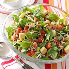 """That Good Salad Recipe -When a friend shared this recipe, it had a fancy French name. Our children can never remember it, so they say, """"Mom, please make 'that good salad.'"""" Now our friends and neighbors request it for potluck dinners. It really is one of the best salad recipes. —Betty Lamb, Orem, Utah"""
