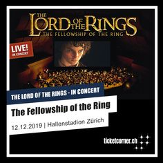 Lord of The Rings Fellowship Of The Ring, Lord Of The Rings, Ticket, Soundtrack, Musicals, Live, Concert, Movie Posters, December