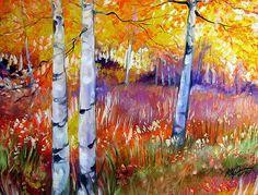 """""""Autumn Aspens"""" par Marcia Baldwin"""