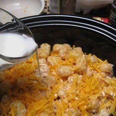 Cheesey Chicken Tater Tot Casserole In The Crockpo