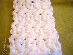 Crossed Half Double Crochet Stitch