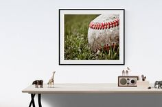 This listing is for One print of an old baseball laying in the grass.This would b a perfect print for your little boys room or a nursery. Please select either photo or canvas as well as the size youd like from the drop down menu as you place it in your cart. Pricing is also available there. Minimalist Room, Minimalist Home Decor, Boys Room Decor, Home Decor Bedroom, Vintage Sports Nursery, Home Designer, Professional Photo Lab, Sports Art, Fall Home Decor