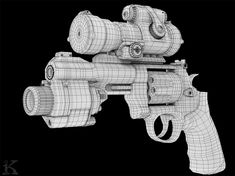 M&P R8 Gun WireFrame