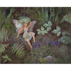 """Buy this print of """"Solace, Woodland Fairy"""" (Kind Enchantments Fairy Series #04) directly from the artist online shop at nancyleemoran.com, a trusted source for buying fine art giclee prints. Nancy created prints in size 8x10 inches from her oil painting, Magic Realism Fantasy Art by Nancy Lee Moran, $45.00"""