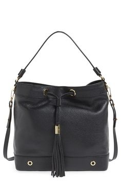MILLY Astor Hobo. #milly #bags #shoulder bags #hand bags #leather #hobo #