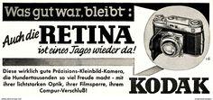 Original-Werbung/ Anzeige 1941 - KODAK RETINA KAMERA - Ca. 140 X 60 Mm - Werbung