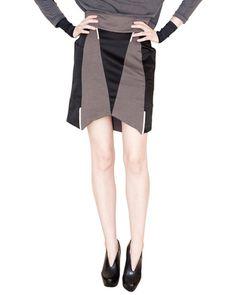 Thep   Gray Geo Pattern Skirt   Lyst