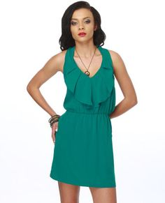 lulus.com  Bonita Barcelona Halter teal dress $36.50