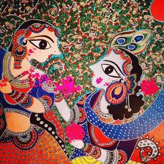 Bharti's new painting on holi theme.. #madhubani, #walldecor, #bhartidayal, #artwork, pepupstreet.com, #india