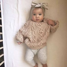 Fashion Look Featuring Hudson Baby Girls' Accessories and First Impressions Boys' Pants by – ShopStyle Baby Mädchen Pullover Outfit. Neutral Baby Clothes, Winter Baby Clothes, Baby Winter, Cute Baby Clothes, Baby Clothes For Girls, Baby Girl Clothing, Babies Clothes, Cute Baby Stuff, Infant Girl Clothes