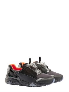 Low-top runner with Disc closure and mixed material upper. Neoprene base with nubuck and rubber overlays. Mcq Alexander Mcqueen, Orange Grey, Luxury Shop, Air Jordans, Sneakers Nike, Shoes, Black, Fashion, Loafers & Slip Ons