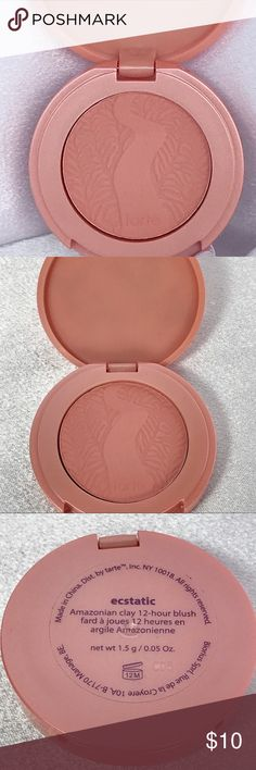 🆕Tarte Amazonian Clay Blush - Ecstatic🆕 New travel-size LE Tarte Amazonian Clay Blush in Ecstatic 0.05oz.  A long-wearing, supremely soft blush infused with Amazonian clay harvested from the banks of the Amazon River and naturally baked by the sun.
