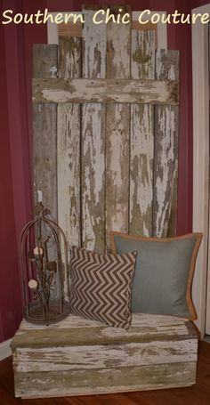 Rustic Barn wood Bench/Mud Room- Perfect even for entry way- ($300.00) Southern Chic Couture - Etsy Store