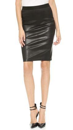 Helmut Lang Leather Pencil Skirt