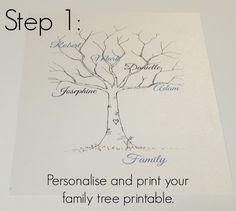 Family Tree Template: Family Tree Thumbprint Template                                                                                                                                                      More