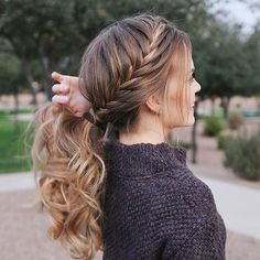 Fishtail French Braid Ponytail Ponytails have definitely been my fav lately Hair tutorial link in my bio! braided hairstyle for long hair. Double Dutch Braids Hair tutorial link in my bio! I hope everyone had a wonderful NYE! What are your New Year resolutions? #braided #braidedhairstyles #hair #hairstyle #blondehair #blondegirl