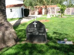 Gravestone for Katherine Frances James (1870-1915). Located at the Mission San Luis Rey #cemetery in Oceanside, California. Photo by Gena Philibert-Ortega