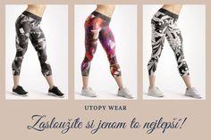 Jak vybrat ideální legíny na jógu? #joga #yoga #sport #utopy #wear #fashion #design #czechmade #womanandstylecz Sport, How To Wear, Pants, Fashion Design, Trouser Pants, Deporte, Sports, Women's Pants, Women Pants