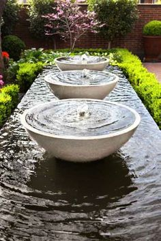 Outdoor Fountains And Water Features Balwyn via www Outdoor Water Features, Water Features In The Garden, Modern Water Feature, Garden Water Fountains, Water Garden, Garden Design Images, Landscape Designs, Landscape Architecture, Architecture Design