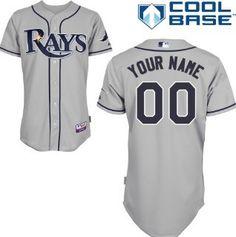Women's Tampa Bay Rays Customized Gray Jersey