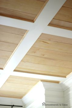 DIY - Flat coffered ceiling - complete instructions