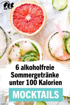 Mocktails: 6 summer drinks under 100 calories - Detox Diet Ideen Healthy Smoothies, Healthy Drinks, Smoothie Recipes, Detox Recipes, Summer Recipes, Healthy Recipes, Detox Drinks, Fun Drinks, Sangria