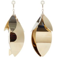 Proenza Schouler Gold and Silver Full Leave Earrings (775 AUD) ❤ liked on Polyvore featuring jewelry, earrings, cluster earrings, leaves earrings, proenza schouler, leaf earrings and leaves jewelry