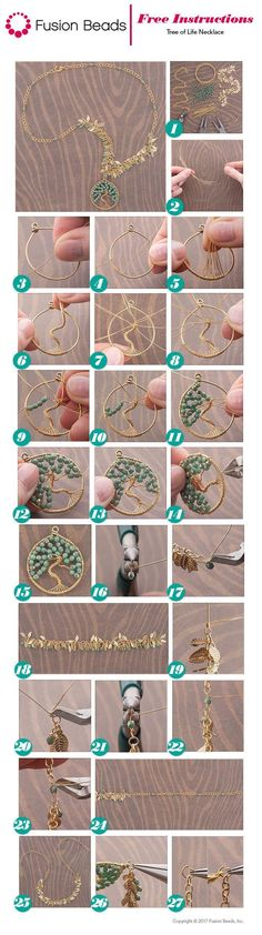 Tree of Life Necklace Inspiration Project #WireJewleryIdeas #necklaceprojects