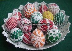 Обвязка крючком пасхальных яиц (12)