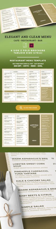 Restaurant Menu Template InDesign INDD. Download here: http://graphicriver.net/item/restaurant-menu-template/16564950?ref=ksioks