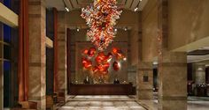 Blown glass sculptures by renowned artist Dale Chihuly at #Hilton Lac-Leamy, Gatineau-Ottawa, Canada