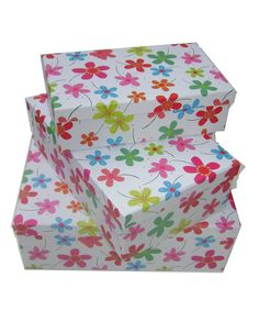 Boîte rangement chambre enfant Fleurs  style-bebe.com
