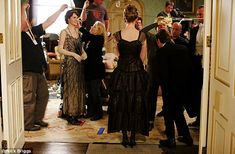 Downton Abbey behind the scenes - A few final adjustments are made to hair and make-up