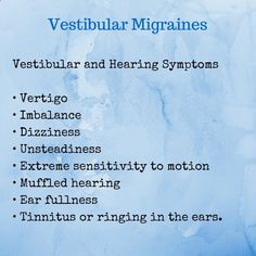 Natural Cures For Vestibular Migraines