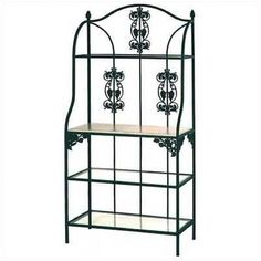 Grace Vineyard Baker's Rack Wood Finish: Walnut, Finish: Ivory, Shelf Material: 4 Wood Shelves