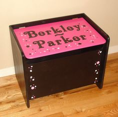 Toy Box Custom Personalized in Black and by GreatCustomFurniture, $215.00