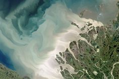 Mackenzie Meets Beaufort : Image of the Day : NASA Earth Observatory