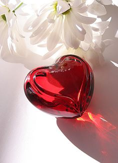 Waterford Siren Red Heart Paperweight