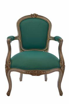 Turqoise arm chair