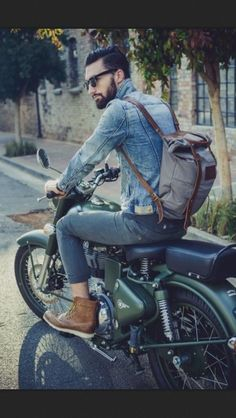 Men's style - loving the denim jacket and Grenson boots