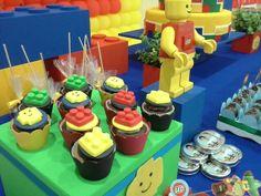 Foto: Mini cupcakes LEGO by Naná Negrão.