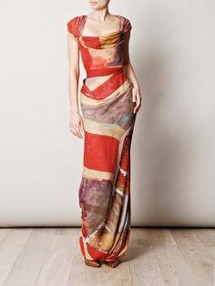 love the color pattern - Vivienne Westwood Gold Label  Union Jack ball-tie dress