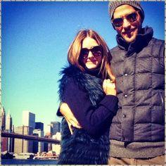 THE OLIVIA PALERMO LOOKBOOK: Olivia Palermo with Johannes Huebl in New York.