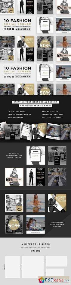 Fashion Social Banner Pack 9 1028959